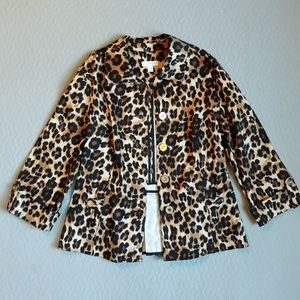 Charter club cheetah Blazer size Large